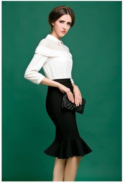 Chân váy đen mặc với áo gì đẹp