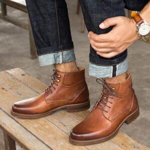 Cách phối đồ với giày da bụi nam