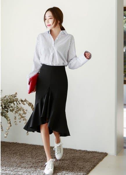 Kiểu áo thích hợp cho người vai rộng