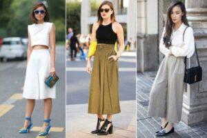 Cách diện quần Culottes