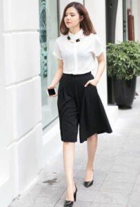 Quần ngố nữ ống rộng - trang phục siêu dễ tính