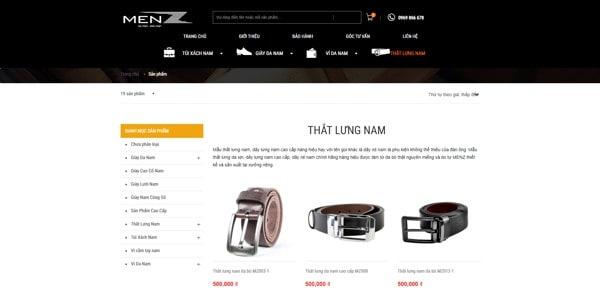 thắt lưng da nam giá rẻ tại Hà Nội