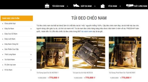 Top 10 shop túi đeo chéo nam da thật Hà Nội uy tín